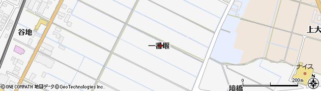 秋田県由利本荘市薬師堂(一番堰)周辺の地図