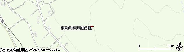 岩手県花巻市東和町東晴山周辺の地図