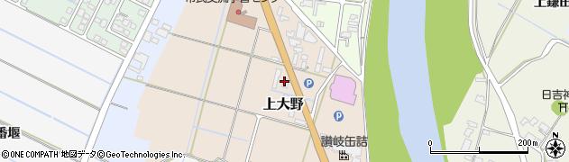 秋田県由利本荘市上大野周辺の地図