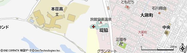 秋田県由利本荘市大堤下周辺の地図