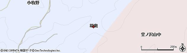 秋田県由利本荘市大中ノ沢(堤奥)周辺の地図