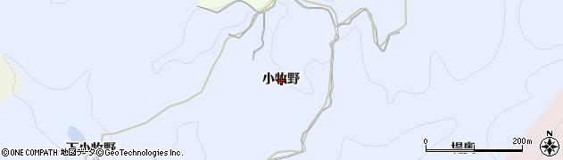 秋田県由利本荘市大中ノ沢(小牧野)周辺の地図
