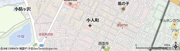 秋田県由利本荘市小人町周辺の地図