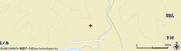 秋田県由利本荘市羽広(土沢)周辺の地図