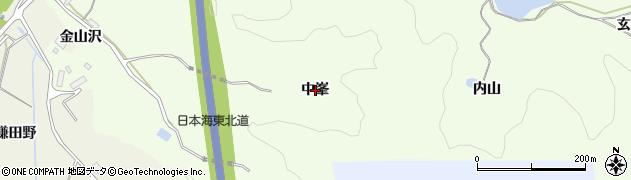 秋田県由利本荘市土谷(中峯)周辺の地図