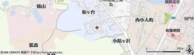 秋田県由利本荘市船ヶ台周辺の地図