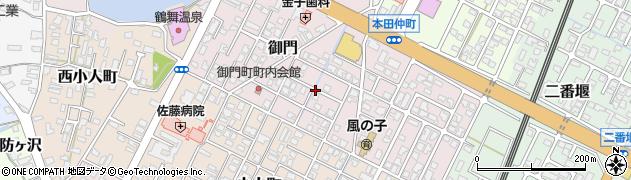 秋田県由利本荘市御門周辺の地図