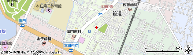 秋田県由利本荘市本田仲町周辺の地図