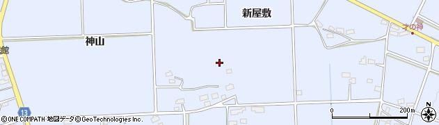 岩手県花巻市上根子(新屋敷)周辺の地図