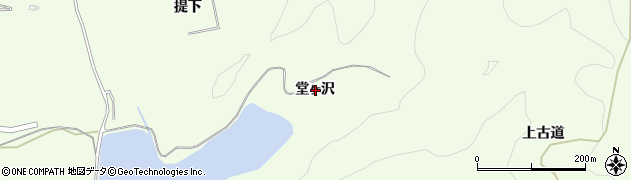 秋田県由利本荘市土谷(堂ヶ沢)周辺の地図
