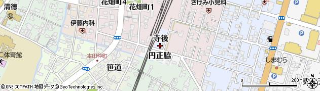 秋田県由利本荘市寺後周辺の地図
