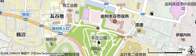 秋田県由利本荘市尾崎周辺の地図