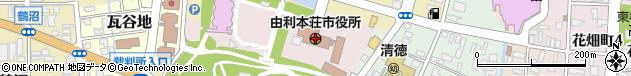 秋田県由利本荘市周辺の地図