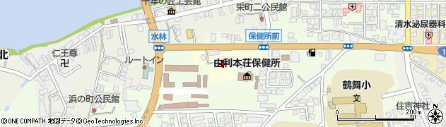 秋田県由利本荘市今野谷地周辺の地図