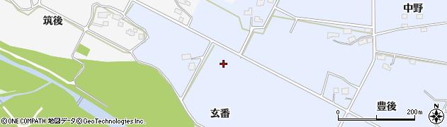 岩手県花巻市上根子(玄番)周辺の地図