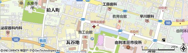 秋田県由利本荘市表尾崎町周辺の地図