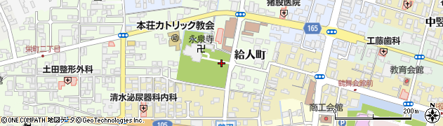 秋田県由利本荘市給人町周辺の地図