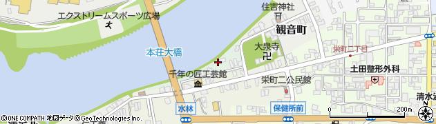 秋田県由利本荘市片町周辺の地図
