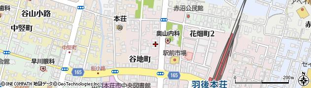 秋田県由利本荘市花畑町周辺の地図