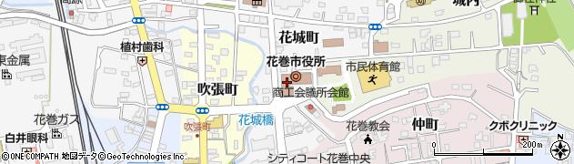 岩手県花巻市周辺の地図