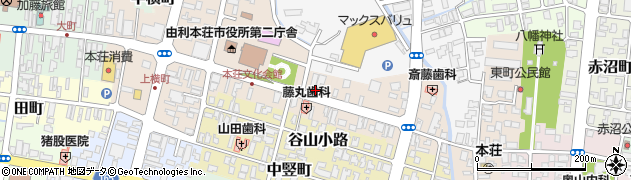 秋田県由利本荘市美倉町周辺の地図