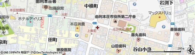 秋田県由利本荘市本荘周辺の地図