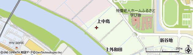 秋田県由利本荘市土谷(上中島)周辺の地図