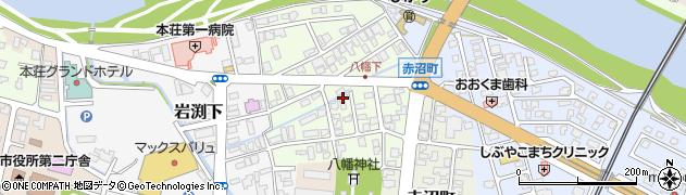 秋田県由利本荘市八幡下周辺の地図