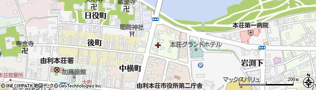 秋田県由利本荘市桶屋町周辺の地図