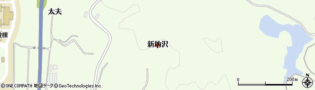 秋田県由利本荘市土谷(新助沢)周辺の地図