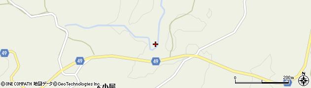 秋田県由利本荘市岩野目沢(要沢)周辺の地図