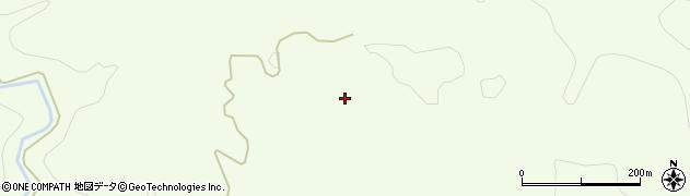 秋田県由利本荘市土谷(横長根)周辺の地図