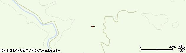 秋田県由利本荘市土谷(下向長者屋敷)周辺の地図