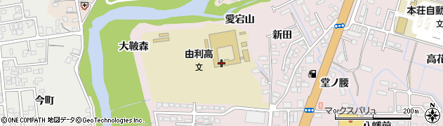 秋田県由利本荘市川口(大鞁森)周辺の地図