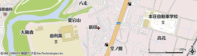 秋田県由利本荘市川口(新田)周辺の地図