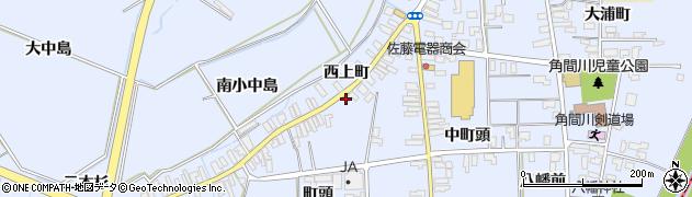 秋田県大仙市角間川町(町頭)周辺の地図