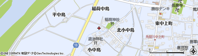 秋田県大仙市角間川町(大中島)周辺の地図