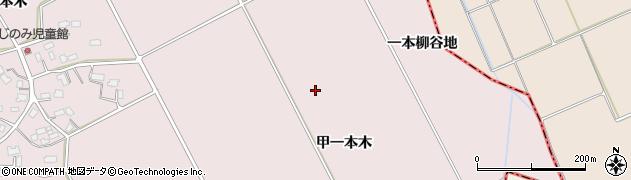 秋田県大仙市藤木(甲一本木)周辺の地図