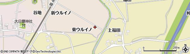 秋田県由利本荘市畑谷(東ウルイノ)周辺の地図