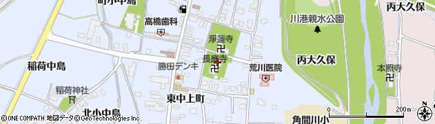 長應寺周辺の地図