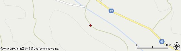 秋田県由利本荘市赤田(大谷地)周辺の地図