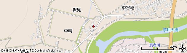 秋田県由利本荘市大浦(中崎)周辺の地図