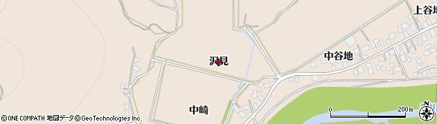 秋田県由利本荘市大浦(沢見)周辺の地図