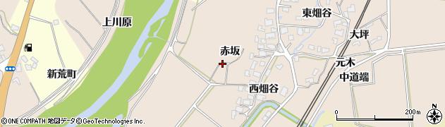 秋田県由利本荘市畑谷周辺の地図