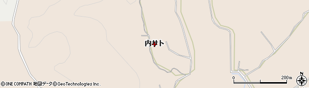 秋田県由利本荘市大浦(内サト)周辺の地図