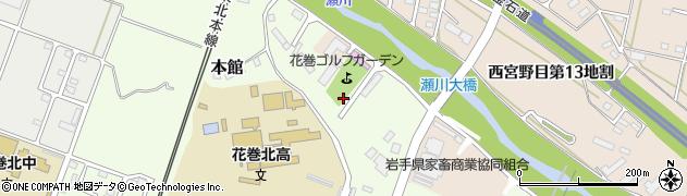 岩手県花巻市本館周辺の地図