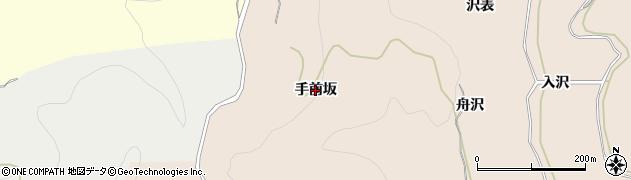 秋田県由利本荘市大浦(手前坂)周辺の地図