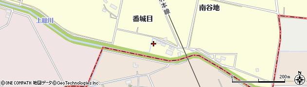 秋田県大仙市下深井(番城目)周辺の地図