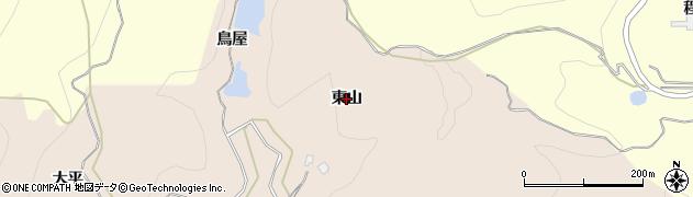 秋田県由利本荘市大浦(東山)周辺の地図
