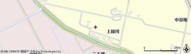秋田県大仙市下深井(上総川)周辺の地図